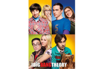 The Big Bang Theory Group Poster (Multicoloured) (One Size)