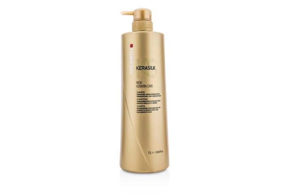 Goldwell Kerasilk Rich Keratin Care Shampoo - Smoothing Transformation (For Unmanageable and Damaged Hair) (1000ml/33.8oz)