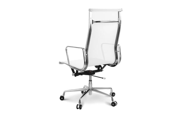 Ergolux Executive Eames Replica High Back Mesh Office Chair (White)