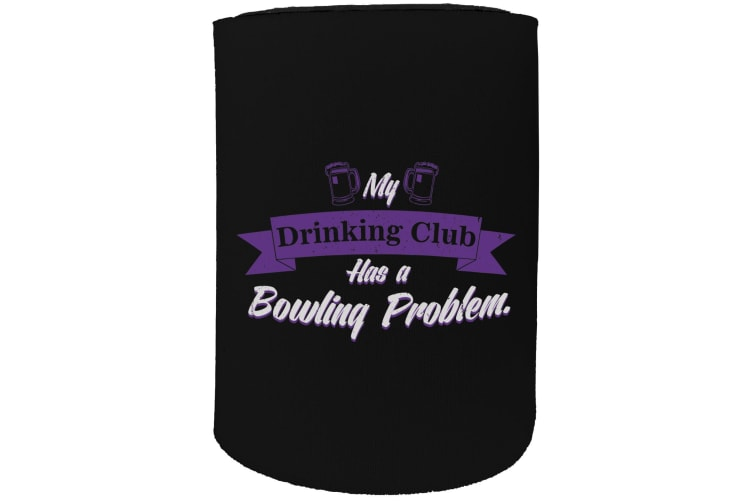 123t Stubby Holder - drinking club bowling - Funny Novelty