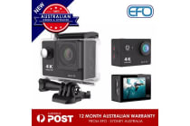 "4K Ultra 2"" Full Hd H9R Action Camera 30M Waterproof  2.4G Wifi Dv Remote Black"