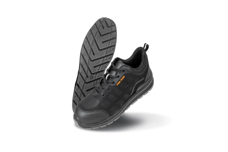 Result Work-Guard Unisex All Black Safety Trainers (Black) (6 UK)