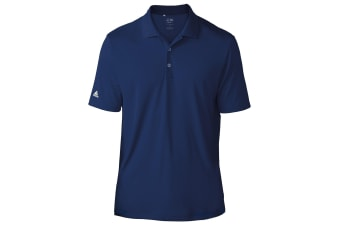 Adidas Teamwear Mens Lightweight Short Sleeve Polo Shirt (Navy)
