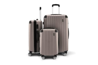 Buon Viaggio 3 Luggage Set with TSA Lock - Grey