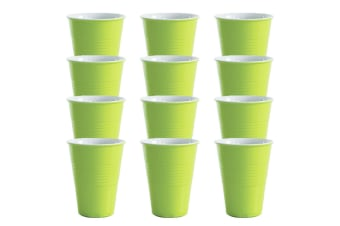 12x Avanti Miami Melamine Cup Green 400ml Coffee Tea Drink Tumbler Kids BBQ Tone
