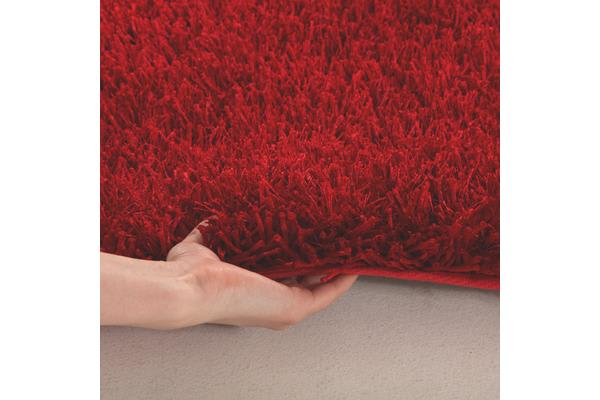 Metallic Noodle Shag Rug Red 130x70cm