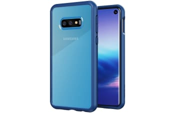 ZUSLAB Galaxy S10e Tough Fusion Case Shockproof with Transparent Back Cover for Samsung - Coral Blue