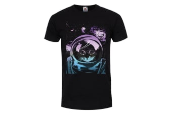 Unorthodox Collective Mens Space Kitten T-Shirt (Black)