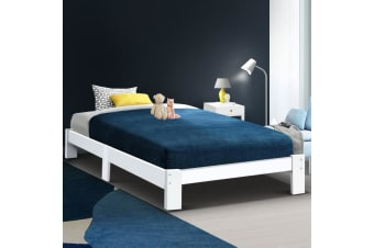Artiss King Single Size Wooden Bed Frame Mattress Base Timber Platform JADE