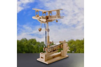 Timberkits DIY Mechanical Biplane Model - Mechanical Bi-Plane