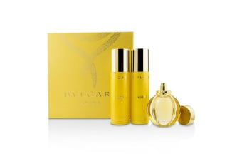 Bvlgari Goldea Coffret: EDP Spray 50ml + Body Milk 200ml + Bath & Shower Gel 200ml 3pcs