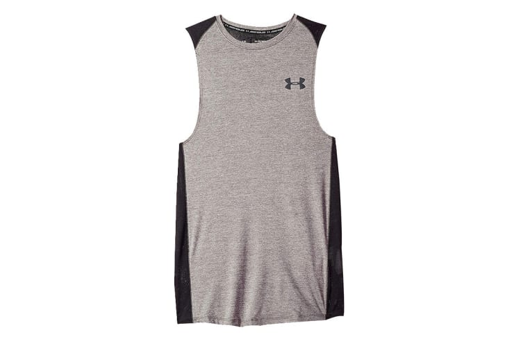 Under Armour Men's MK-1 Tank (Charcoal Light Heather/Stealth Gray, Size Small)