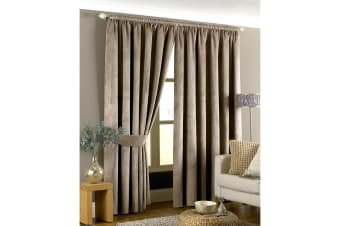 Riva Home Imperial Pencil Pleat Curtains (Taupe)