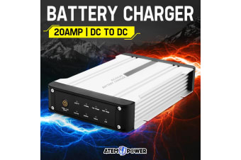 ATEM POWER 12V DC to DC Battery Charger MPPT 20A Dual Battery Isolator Solar AGM
