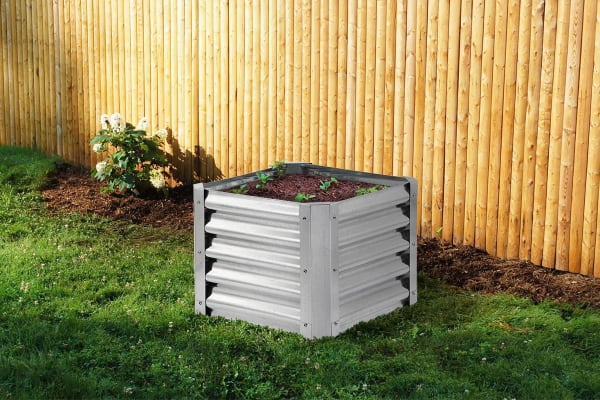 Galvanised Raised Garden Bed - Square (55 x 55 x 41cm)
