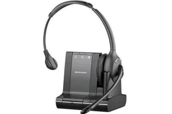 Plantronics Savi W710 3-in-1 DECT Monaural UC Over-the-head Wireless Headset via Telephany