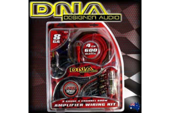 Dna 600W Car Audio 4 Channel Power Amplifier Amp Wiring Rca Kit Cable Rca Ak84