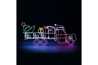 New Christmas Lights Gifts Cart Motif 22M LED Rope Xmas Decoration Outdoor Home Display