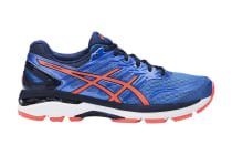 ASICS Women's GT-2000 5 Running Shoe (Regatta Blue/Flash Coral/Indigo Blue)
