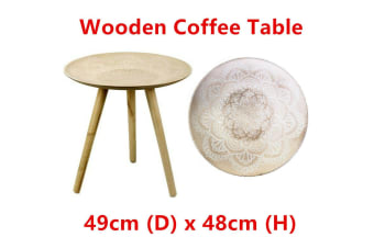 Curve Wood Coffee Tea Table Pattern Texture Surface Non Slip Side Round Lamp