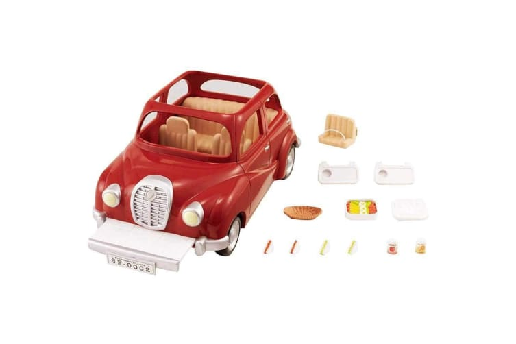 Sylvanian Families Family Saloon Car Red SF4611