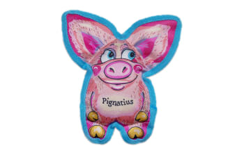Fuzzu All Ears Pignatious Dog Toy (Pink/Blue) (One Size)