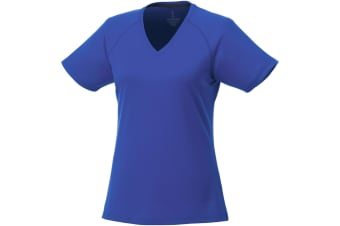 Elevate Womens/Ladies Amery Short Sleeve Cool Fit V-Neck T Shirt (Blue) (XS)