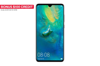 Huawei Mate20 Dual SIM (128GB, Black) + BONUS $100 Credit