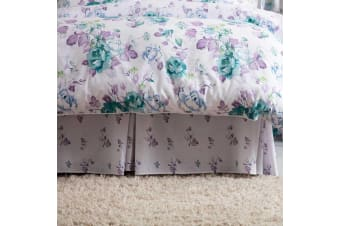 Belledorm Melody Fitted Valance (White/Purple/Green)