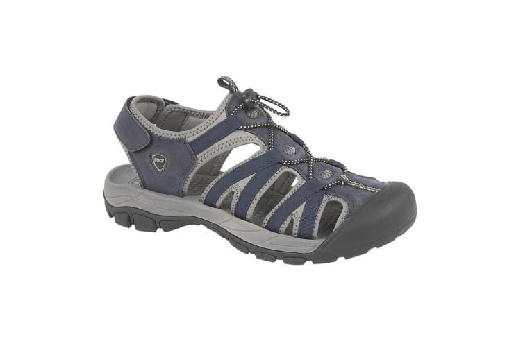 PDQ Mens Toggle & Touch Fastening Superlight Sports Sandals (Navy) (12 UK)