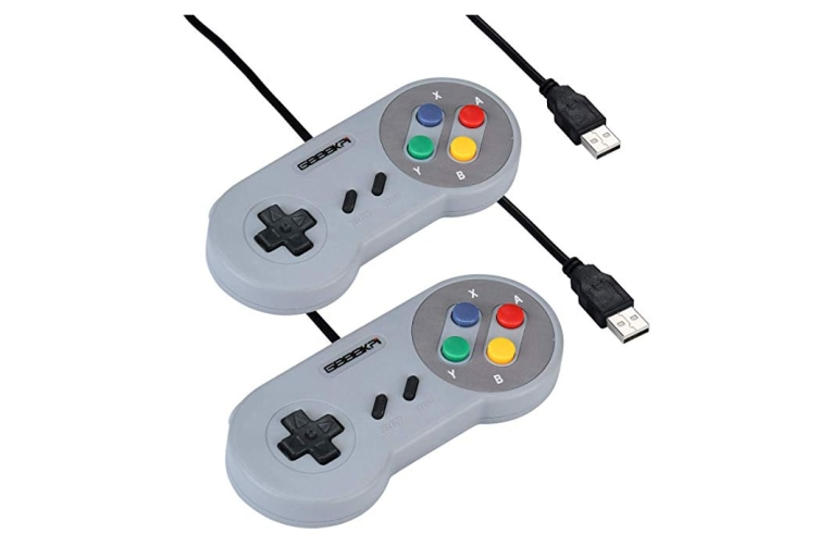 2 Pack Classic USB Game Controller PC Gamepad Joystick Replacement for  Super Nintendo SF for SNES Windows MAC