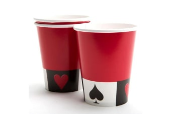 Creative Converting 8 Cards Night 9oz Party Cups (Red/White/Black)