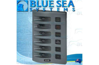BLUE SEA WATERPROOF OUTDOOR 6x SWITCH SWITCHES PANEL FUSED MARINE LED 12V 4306B