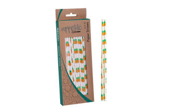 Appetito Paper Straws - Pack 50-pineapples