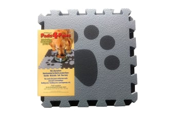 Snugglesafe Pads4Paws Interlocking Foam Mats (Pack Of 6) (Grey) (One Size)