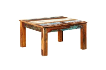 vidaXL Coffee Table Square Reclaimed Wood