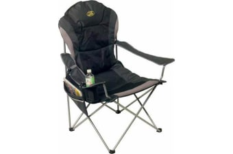 Camp 4 Tobago Folding Camping Chair (Black/Grey) (One Size)