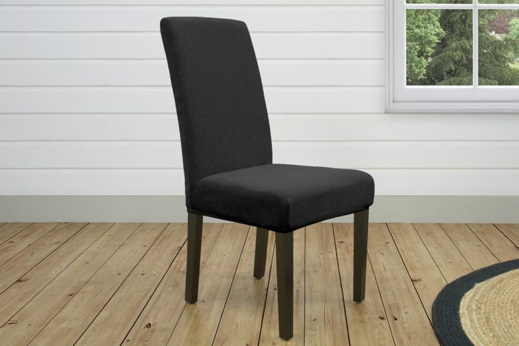 SureFit Pearson Dining Chair Cover - Ebony