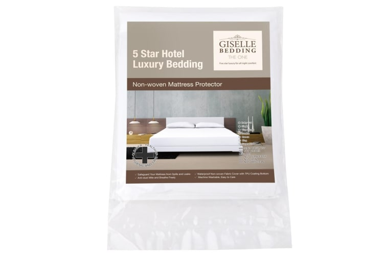 Giselle Bedding Fully Fitted Waterproof Mattress Protector Non Woven Double