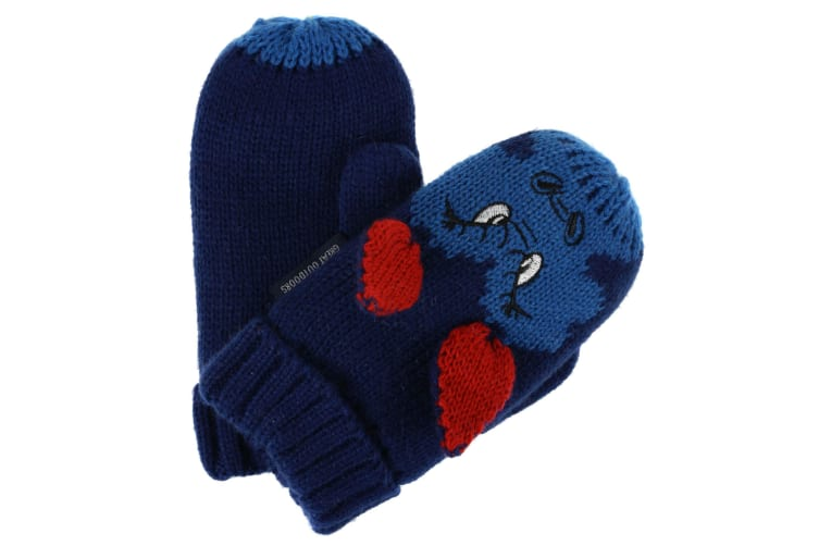 Regatta Great Outdoors Childrens/Kids Animally III Mittens (Prussian) (1-3 Years)