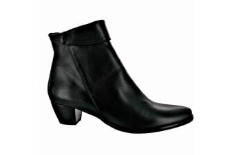 Riva Armadillo Ankle Boot Ladies Boots / Womens Boots (Black)