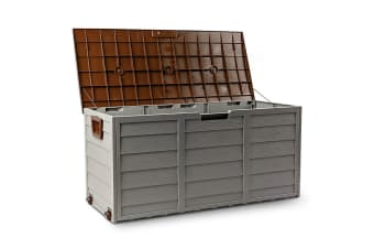 Brown 290L Lockable Outdoor Storage Box