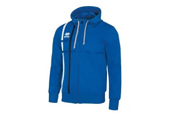 Errea Mens Maddi Zip Up Hoodie (Blue/Navy)