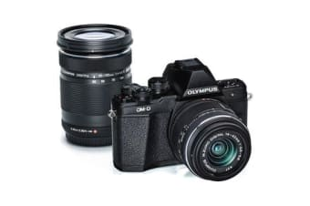 New Olympus OM-D E-M10 Mark II Twin Kit (14-42 EZ) (40-150mm) Digital CamerasBlack (FREE DELIVERY + 1 YEAR AU WARRANTY)