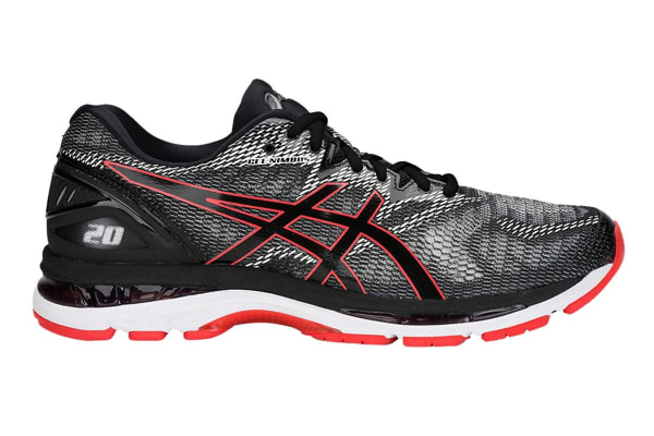 ASICS Men's Gel-Nimbus 20 Running Shoe (Black/Red Alert, Size 13.5)