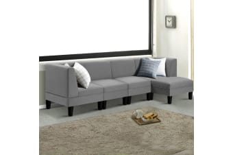 Artiss Modular Sofa Lounge Set 5 Seater Chaise Chair Suite Corner Couch Fabric