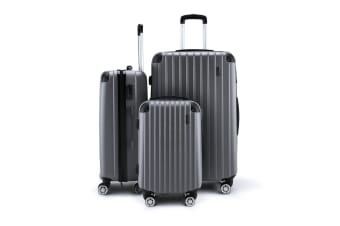 Buon Viaggio 3 Grey Luggages Set with Lock