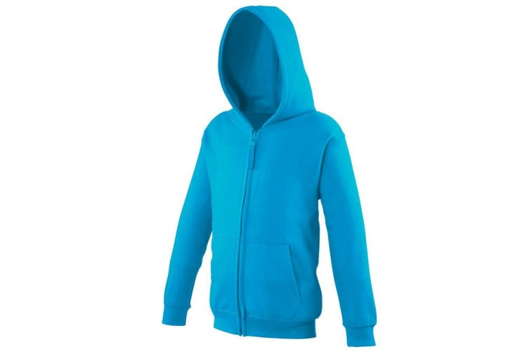 Awdis Kids Unisex Hooded Sweatshirt / Hoodie / Zoodie (Hawaiian Blue) (3-4)