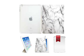 Marble Leather Smart Case Cover For iPad 6th Gen 2018