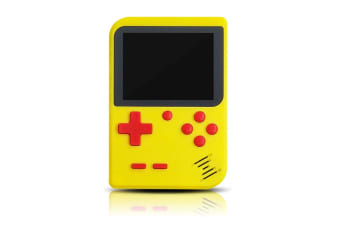 Select Mall 3 Inches Handheld Game Player Portable Retro Video Game Player Support Connecting TV and Two Players-Yellow